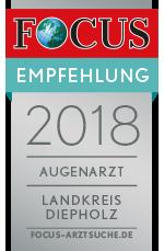 Augenzentrum Klatt zählt 2018 zu den besten Augenärzten im Landkreis Diepholz.