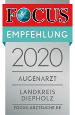 Augenzentrum Klatt zählt 2020 zu den besten Augenärzten im Landkreis Diepholz.