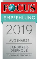 Augenzentrum Klatt zählt 2019 zu den besten Augenärzten im Landkreis Diepholz.