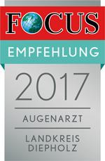 Augenzentrum Klatt zählt 2017 zu den besten Augenärzten im Landkreis Diepholz.